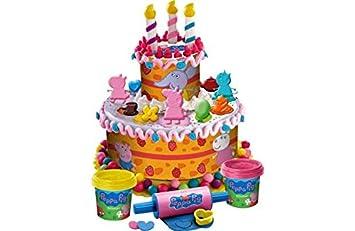 Peppa Pig Dough torta de cumpleaños.: Amazon.es: Juguetes y ...