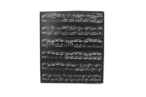 Musica a tema Musica Score fogli di disegno in PVC raccoglitori - PVC 3 O-Ring Size 25 millimetri A4 FunMusicOnline C648A