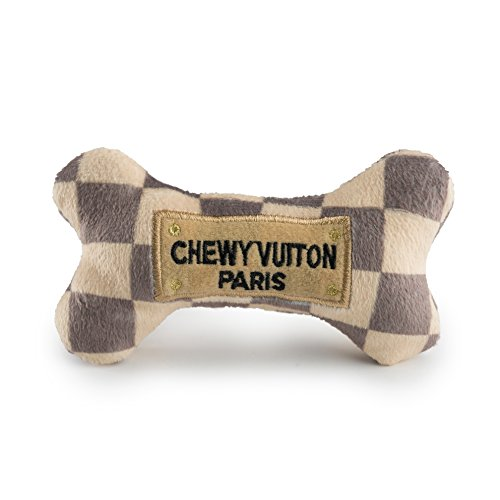 (Haute Diggity Dog HDD-008-SM Checker Chewy Vuitton Bone, Small)
