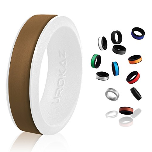 UROKAZ - Silicone Wedding Ring, The Only Ring That Fits Your Lifestyle - Whether You are Single or Married, Ring is Right for You - It is Fashionable, Flexible, and ()