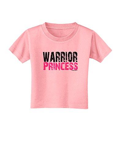 TooLoud Warrior Princess Pink Toddler T-Shirt - Candy Pink - 2T