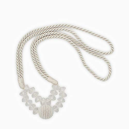 - DecoPro Beautiful Pair of Ivory, Pearl Bead Rope Holdback with 39 1/2