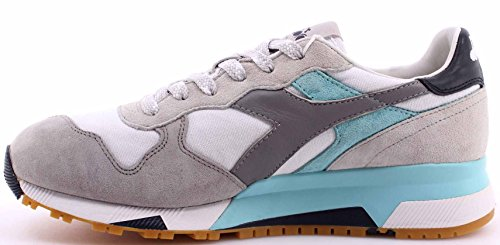 Diadora Heritage Scarpe Sneakers Uomo Trident 90 C SW White Gray Grigio Nuove