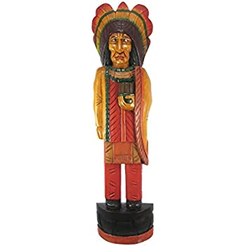 Amazoncom 5 Foot Tall Giant Hand Carved Wooden Cigar Indian Statue