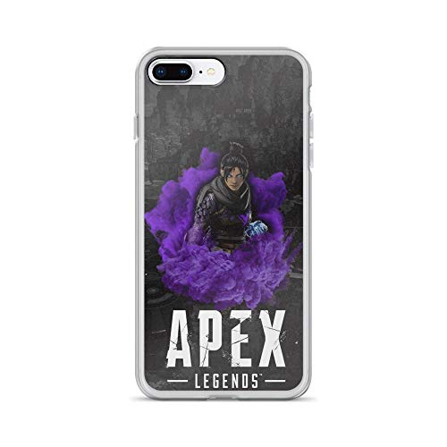 TEEMT Compatible with iPhone 7 Plus/8 Plus Case Apex Legends Characters Battle Loyale Game Pure Clear Phone Cases Cover