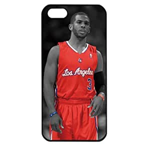 NBA Los Angeles Clippers Chris Paul Apple iPhone 5 TPU Soft Black or White case(Black)