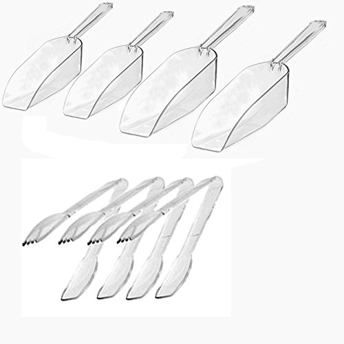 - Candy Buffet Must Haves...Clear Plastic Candy Scoops (Med & Large Size) PLUS Clear Plastic Serving Tongs!