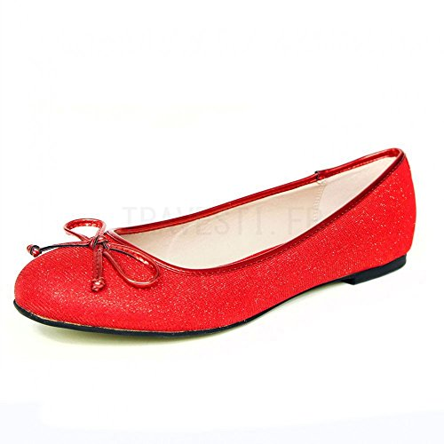 Andrés Machado - Bailarinas para mujer Rouge tissu (Tejido Rojo)