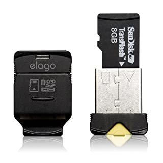 elago Mobile Nano II USB 2.0 microSDHC Flash Memory Card Reader -Works up to 32GB- (Black) (B002HGFKR8) | Amazon price tracker / tracking, Amazon price history charts, Amazon price watches, Amazon price drop alerts