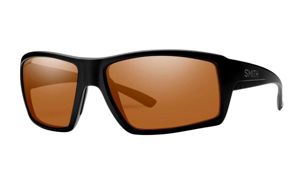 Smith Optics Mens Challis Lifestyle Polarized Sunglasses Matte Black/ChromaPop Copper