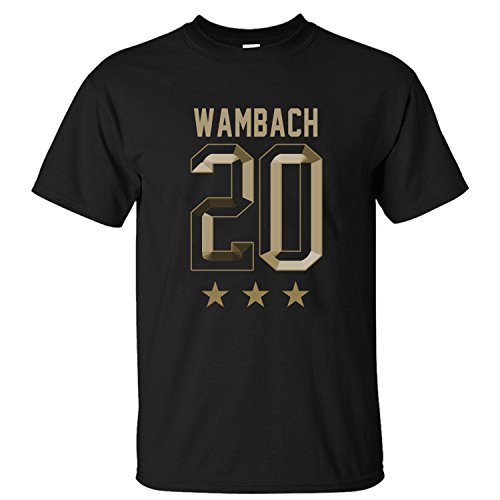 Abby Wambach Hero Replica Soft Cotton Short Sleeve T-Shirt black XL ()
