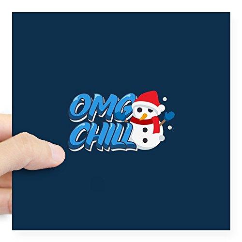 Chill Snowman - CafePress - Emoji OMG Chill Snowman Square Sticker 3