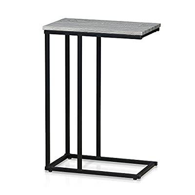 Furinno FM4563ST-1DO Modern Lifestyle Side Table, Dark Oak - Simple stylish design, Functional and suitable for any room Material: engineered Particle Board, PVC cover and powder coated metal tubes Fits in your space, fits on your budget - living-room-furniture, living-room, end-tables - 41mfFxW6MfL. SS400  -