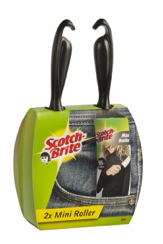 Scotch-Brite 836RMIN2 Mini Kleiderroller Travel 2-er Pack, je 30 Blatt 2.6 m