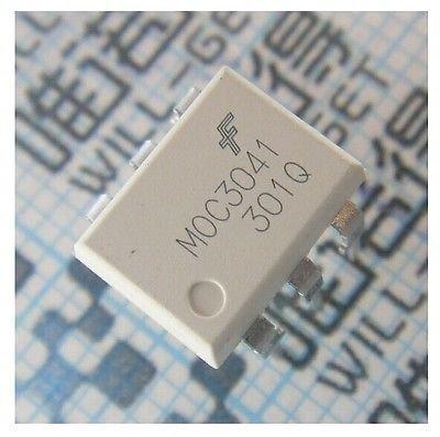 elinke 50PCS MOC3041 DIP-6 OPTOCOUPLERS