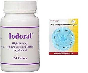 Optimox – Iodoral, alta potencia yodo yoduro de potasio tiroides apoyo suplemento, 180 comprimidos