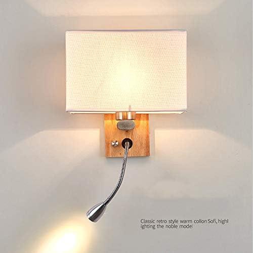 LINLUI 2er Set Wandleuchte Schlafzimmer, Moderne Stoff Lampenschirm E27 Wandlampe, Verstellbarer Flexible LED Leselampe, für Nachttisch Innen Wohnzimmer Studie Lobby Hotel