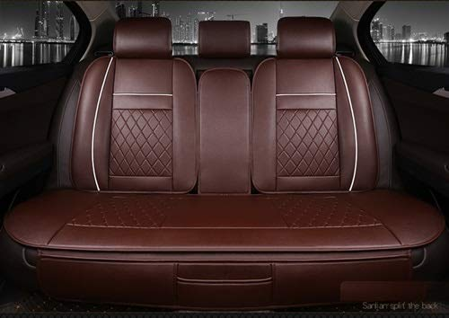 Universal PU Leather Waterproof Back Rear Car Seat Cushion-Car Interior Seat Cover Cushion Pad Mat-Seat Cover Cushion for Cars-Seat Cover Cushion Pad Mat Accessories (Brown)