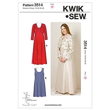 Kwik Sew Damen Schnittmuster 3514 – Kleid (O/S): Amazon.de: Küche ...