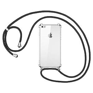 omitium Coque pour iPhone Se 2020 avec Cordon de Collier, iPhone 7 / iPhone 8 Coque avec Cordon, iPhone Se Transparent…