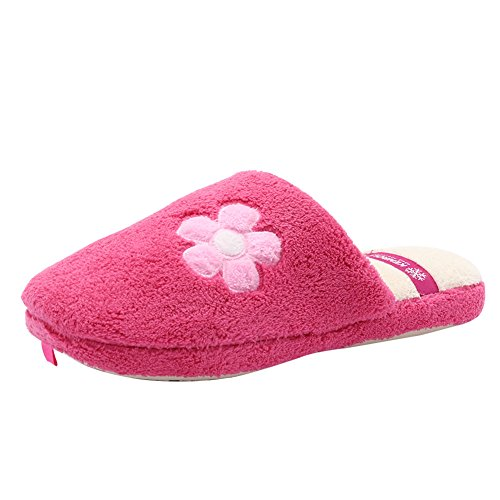 Kenroll Zapatillas de estar por casa para mujer Dormitorio Slipper Rose Red