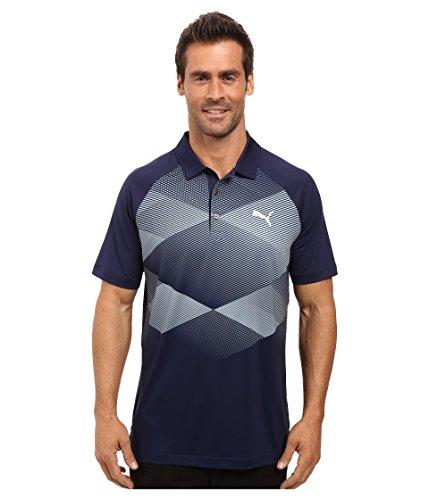 (PUMA Golf Men's GT Argyle Polo Peacoat Polo Shirt)