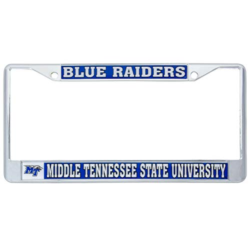 Desert Cactus Middle Tennessee State University Blue Raiders Metal License Plate Frame for Front Back of Car Officially Licensed (Mascot)