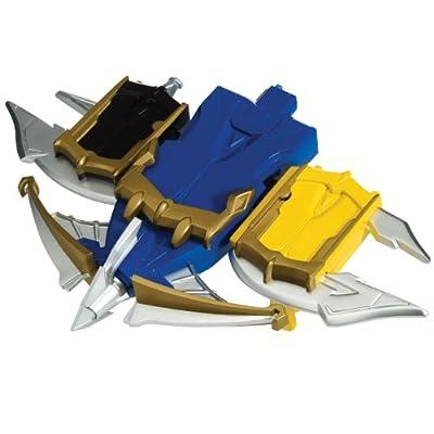 Power Rangers Megaforce Snake Ax, Tiger Claw, and Shark Bowgun Battle Set: Toys & Games