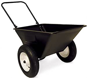 Precision Products 5-1/2-Cubic Foot Garden Yard Cart With 16-Inch Pneumatic Wheels LC-150-P16