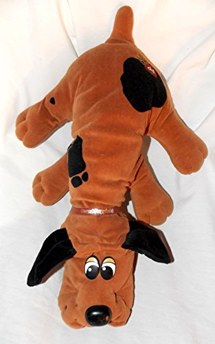 1985-vintage-pound-puppies-19-plush-brown-pound-puppy-dog-with-black-spots-and-black-ears
