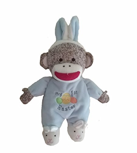 Baby Starters Plush Monkey My 1st Easter, Blue (First Easter Basket)