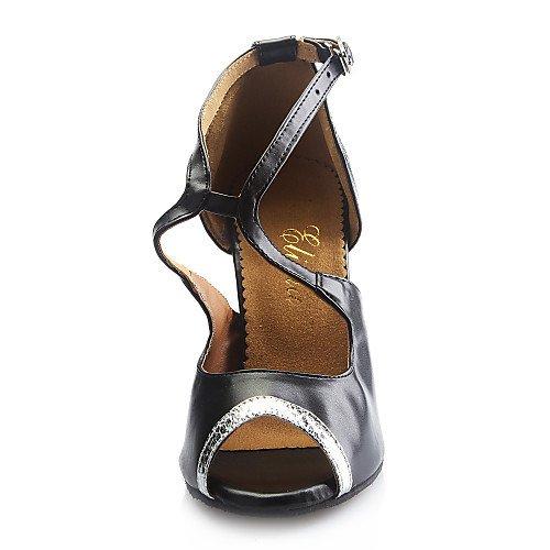 de Personalizado sintético Negro Zapatos Q T T Negro Baile Cuero Mujer AxqOqt8wa