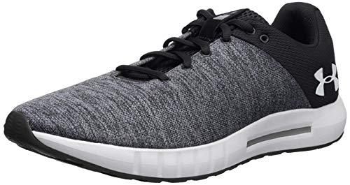 Under Armour Men's Micro G Pursuit Twist Running Shoe, Black (001)/White, 11