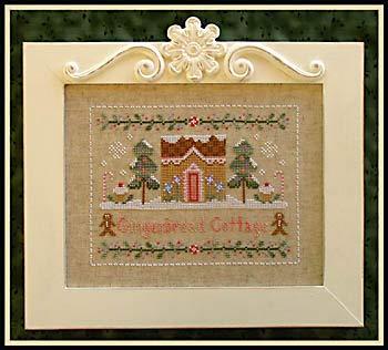 Gingerbread Cottage Cross Stitch Chart