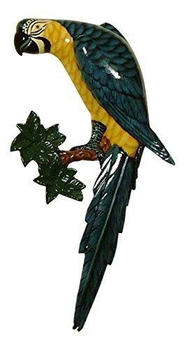 Charlotte International Tropical Macaw Blue Parrot Tiki Wall Nursery Bath Decor