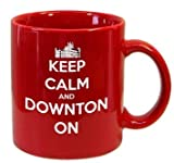 Downton Castle-Keep Calm And Downton On-11 Ounce Ceramic Coffee Mug EXCLUSIVELY from THE GAG