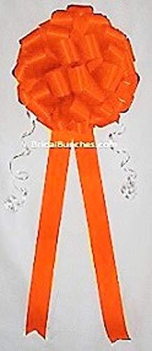 Orange Tangerine Wedding Bows Pew Bows Church Decorations