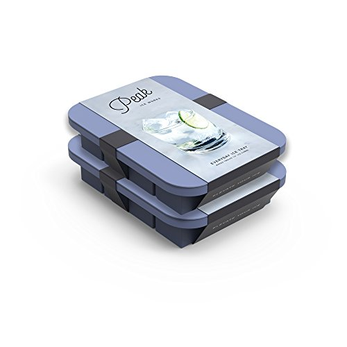 - W&P WP-ICE-ED-BL1-2 Peak Ice Works Everyday Silicone Ice Tray, BPA Free, Dishwasher Safe, Peak Blue, Set of 2