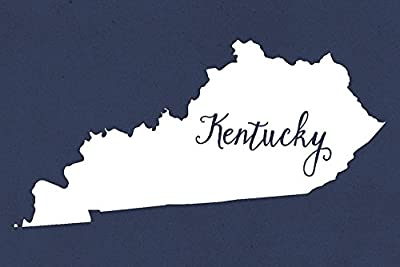 Kentucky - Home State - White on Navy