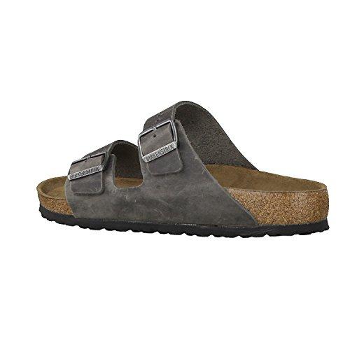 Birkenstock ARIZONA  FL 352703 - Sandalias de cuero unisex gris