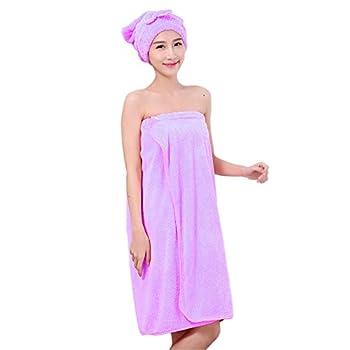 MytopWomen Bath Towels,Microfiber Bath Towel Wrap Bathrobe -55x32inches