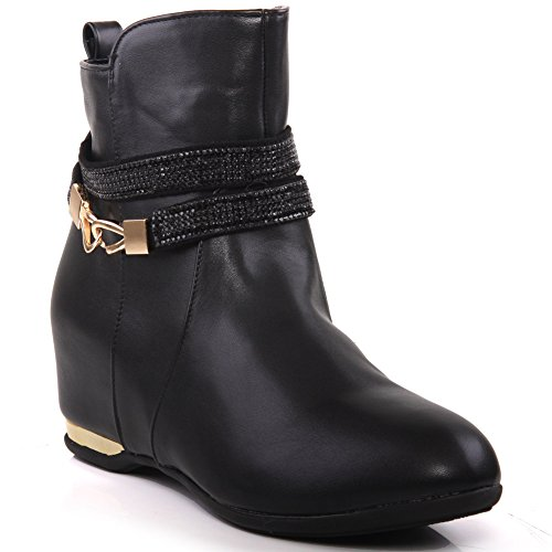 botas de Negro Willie Mujeres 'Decorado Unze con invierno BxXHp0qnW