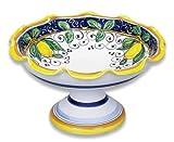 Handmade Alcantara Footed Bowl From Italy