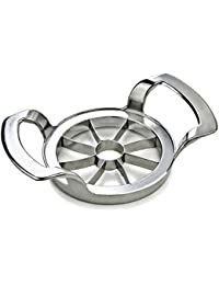 Buy Riwale Stainless Steel Apple Slicer Fruit Corers Divider, Silver - 100% Non-Magnetic Stainless Steel Blades offer