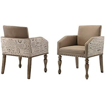 Amazon Com Roundhill Furniture Birmingham Script Printed