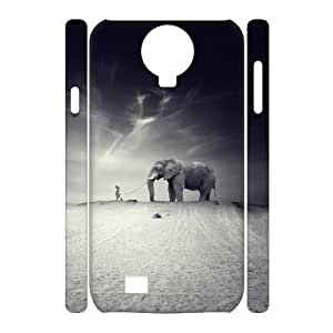 WJHSSB Cell phone Cases Elephant Hard 3D Case For Samsung Galaxy S4 i9500