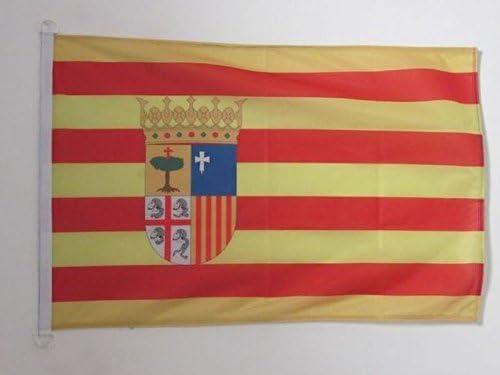 Aragon Drapeaux Drapeau aragonais AZ FLAG Drapeau Aragon 150x90cm Espagne 90 x 150 cm Sp/écial Ext/érieur