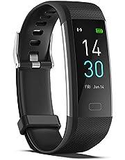 Smartwatch - Pesoo Reloj de Seguimiento de Actividad con Monitor de Frecuencia Cardíaca, Podómetro Impermeable IP68 con Contador de Pasos, Rastreador de Ejercicios Conectado a GPS para Niños Mujeres Hombres