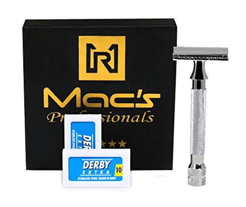 33C Macs Razor Brand Double Edge Blade Safety Razors-With 10 Free Blades -2045 -
