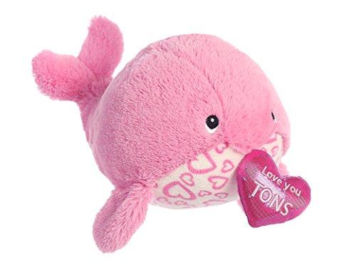 Aurora World Love You Tons Whale Plush, Pink, 12